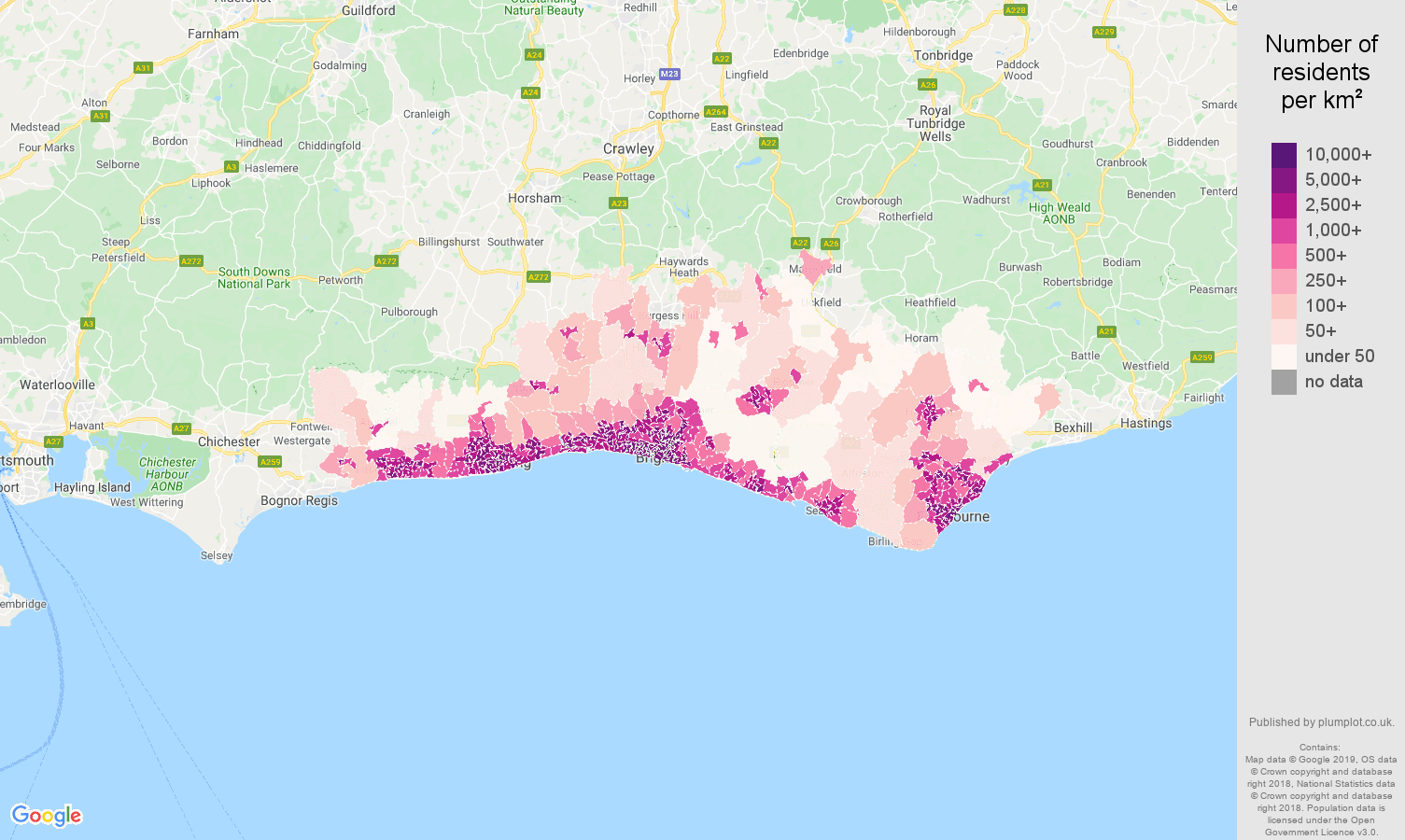 Brighton Population Stats In Maps And Graphs