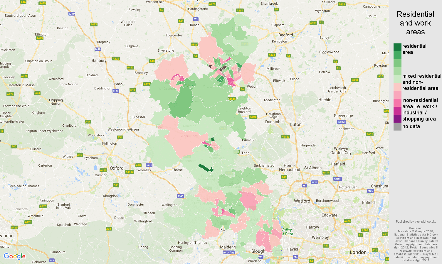 Buckinghamshire residential areas map
