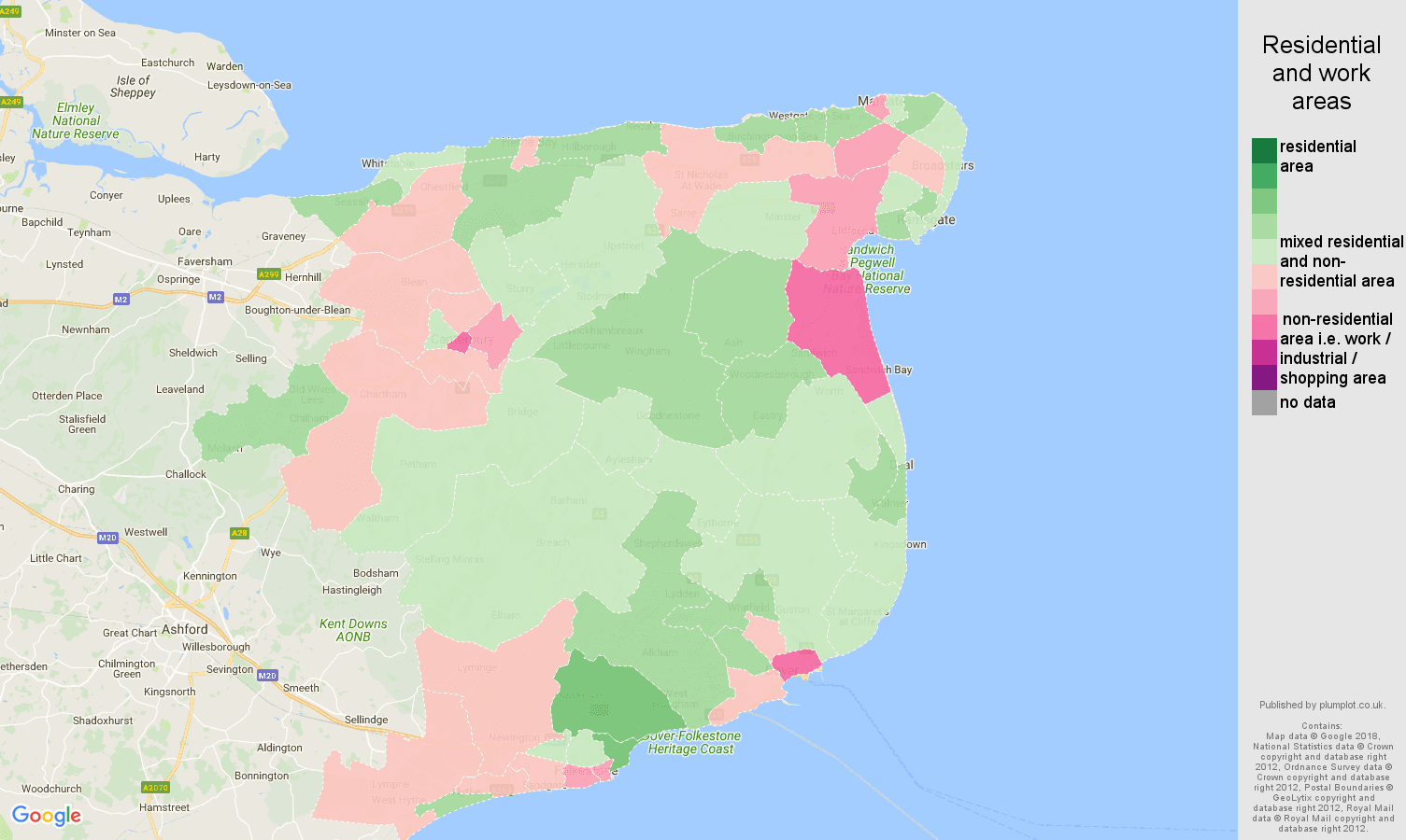 Canterbury residential areas map