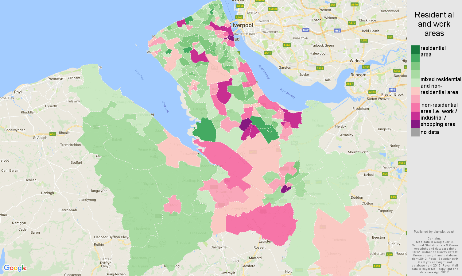 Chester residential areas map