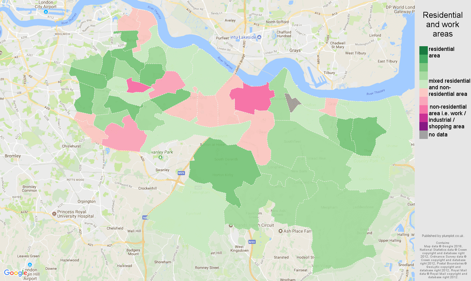 Dartford residential areas map