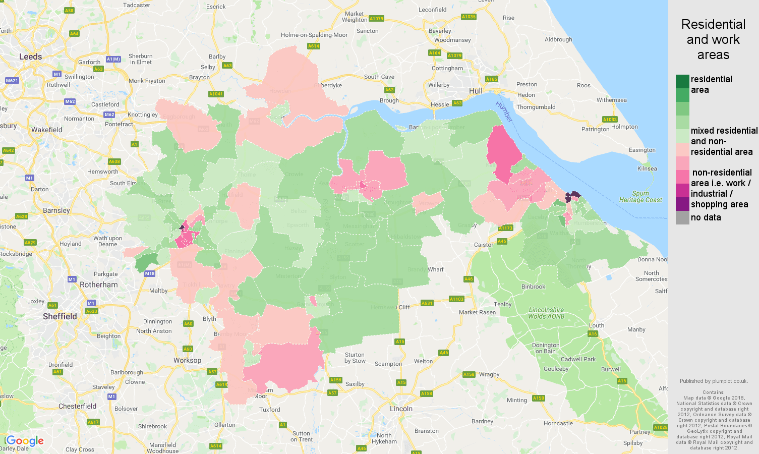 Doncaster residential areas map