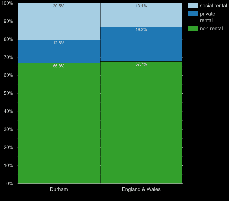 Durham county homes by rental type