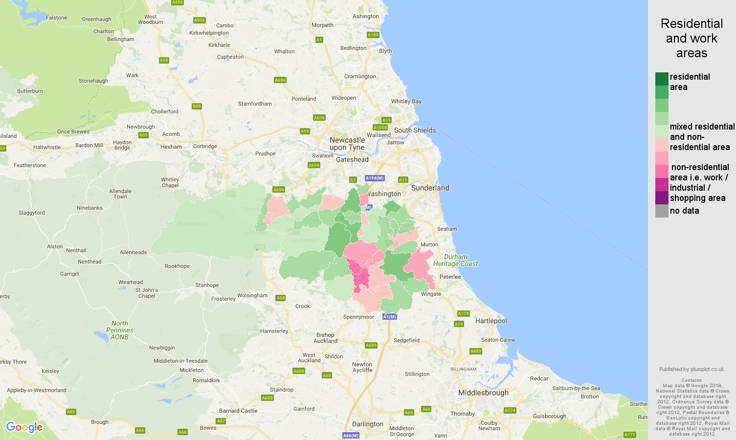 Map Of England Durham.Durham Population Stats In Maps And Graphs
