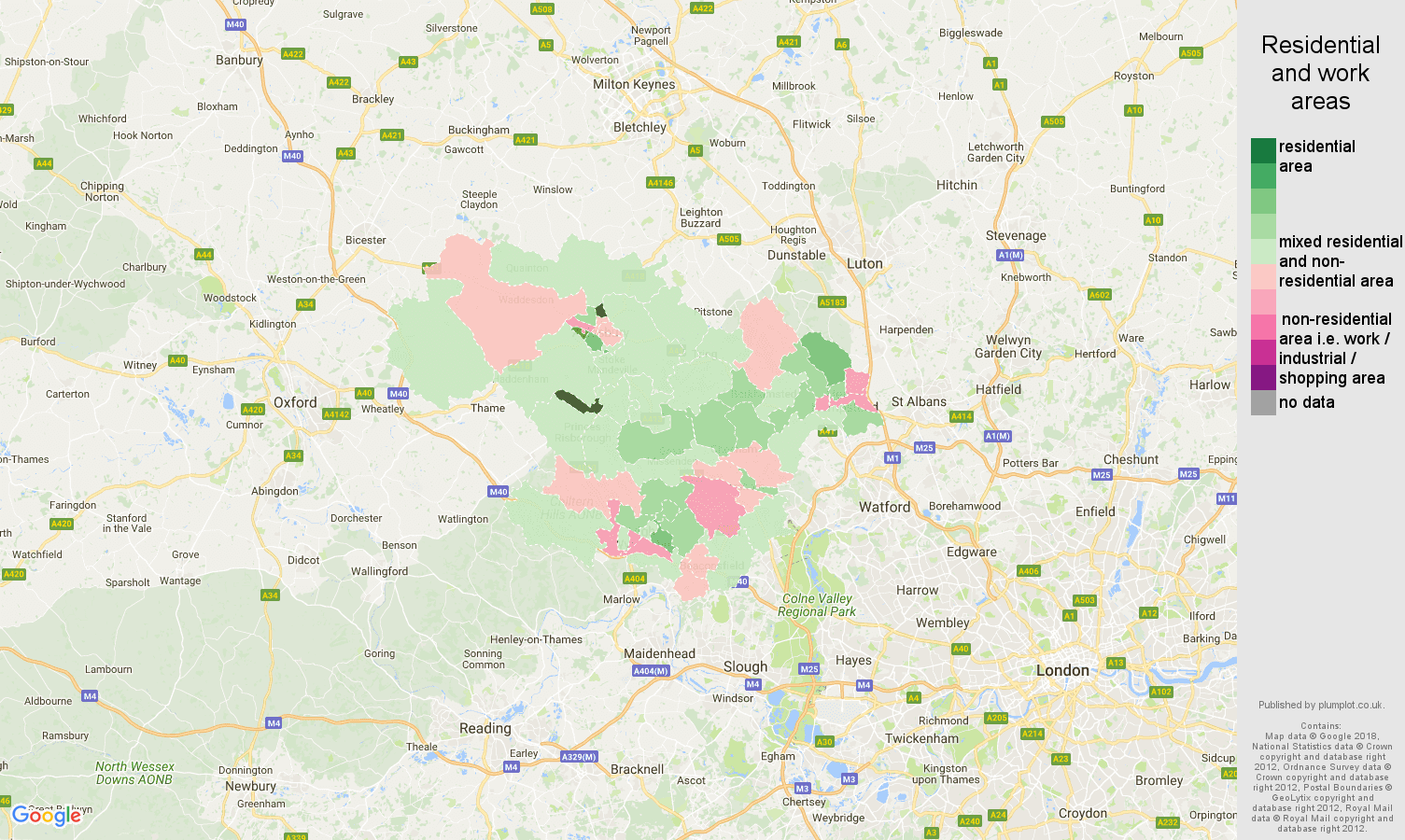 HemelHempstead population stats in maps and graphs