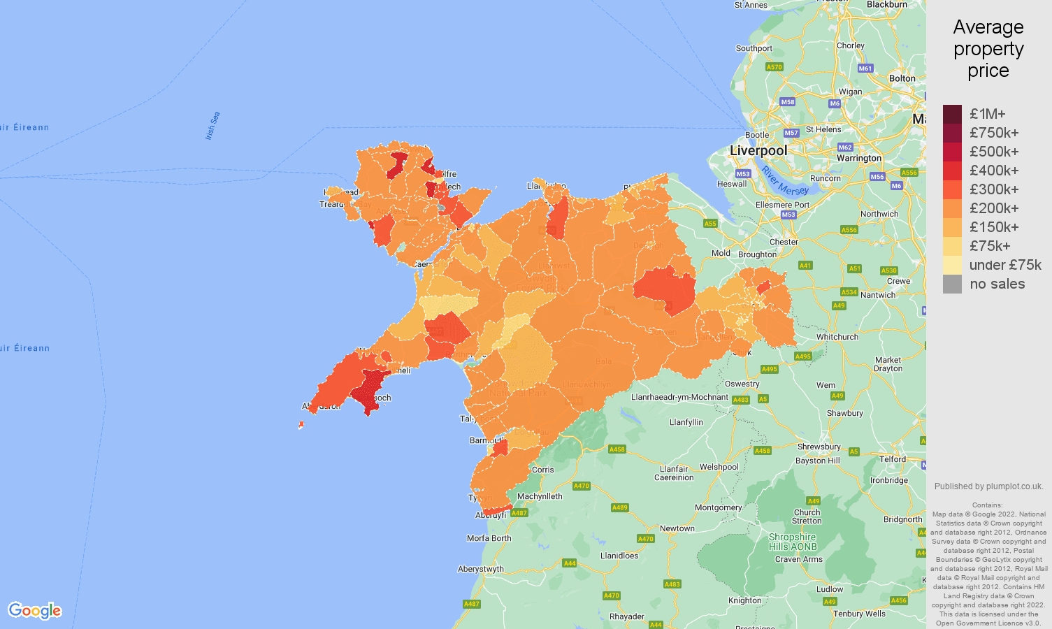 Llandudno house prices map