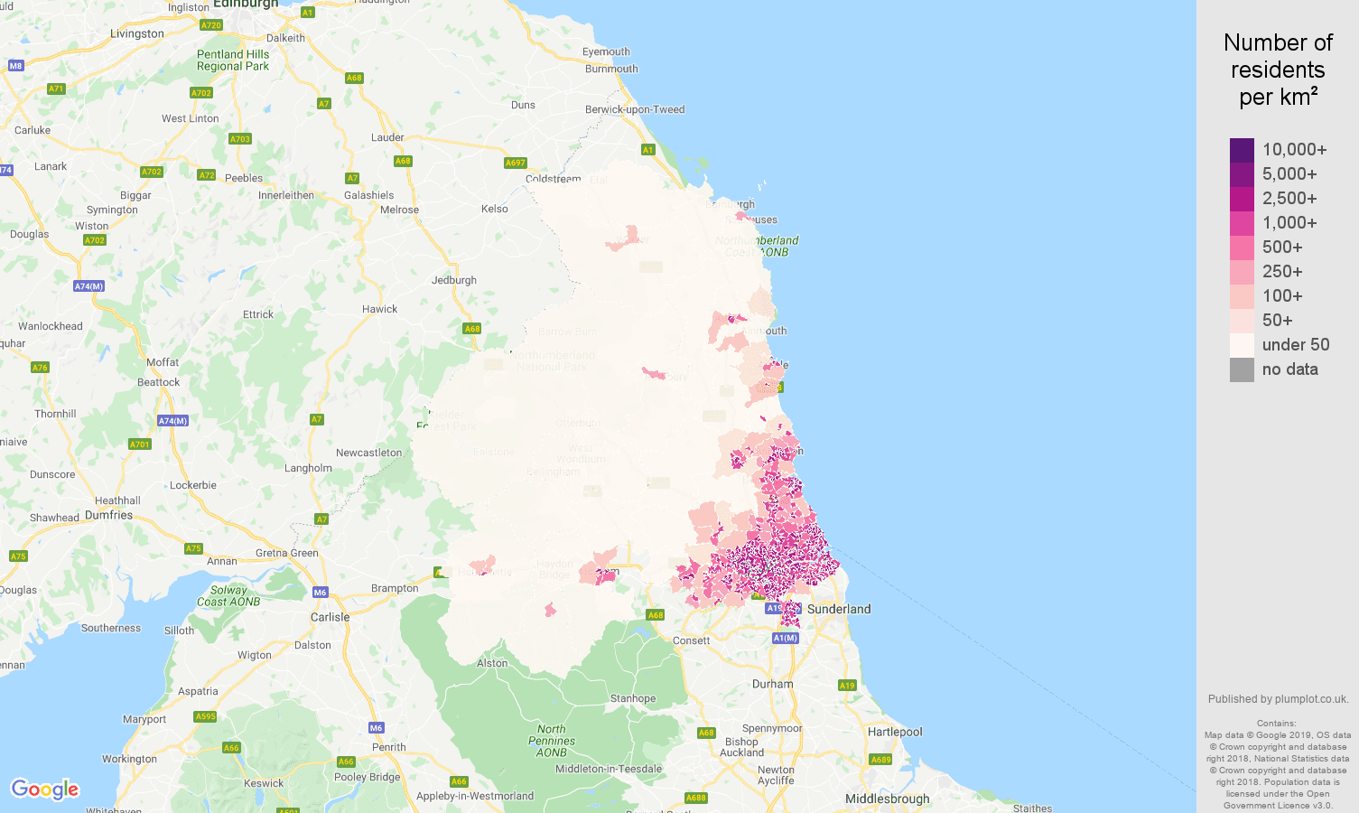 Map Of Uk Newcastle.Newcastle Upon Tyne Population Stats In Maps And Graphs