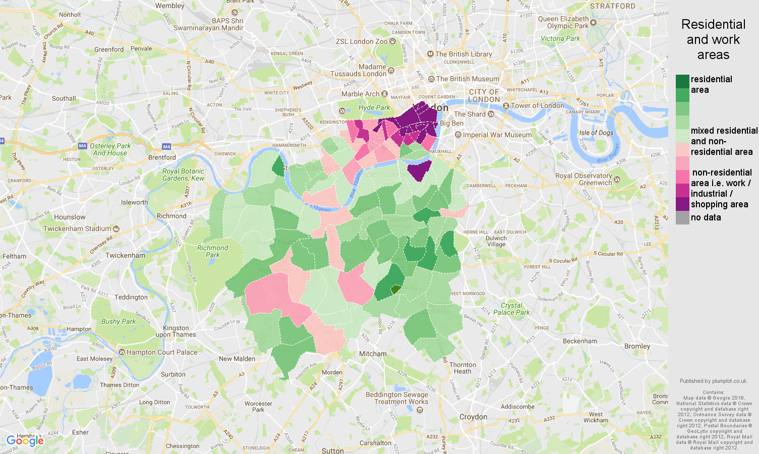 London And Surrounding Areas Map.South West London Population Stats In Maps And Graphs