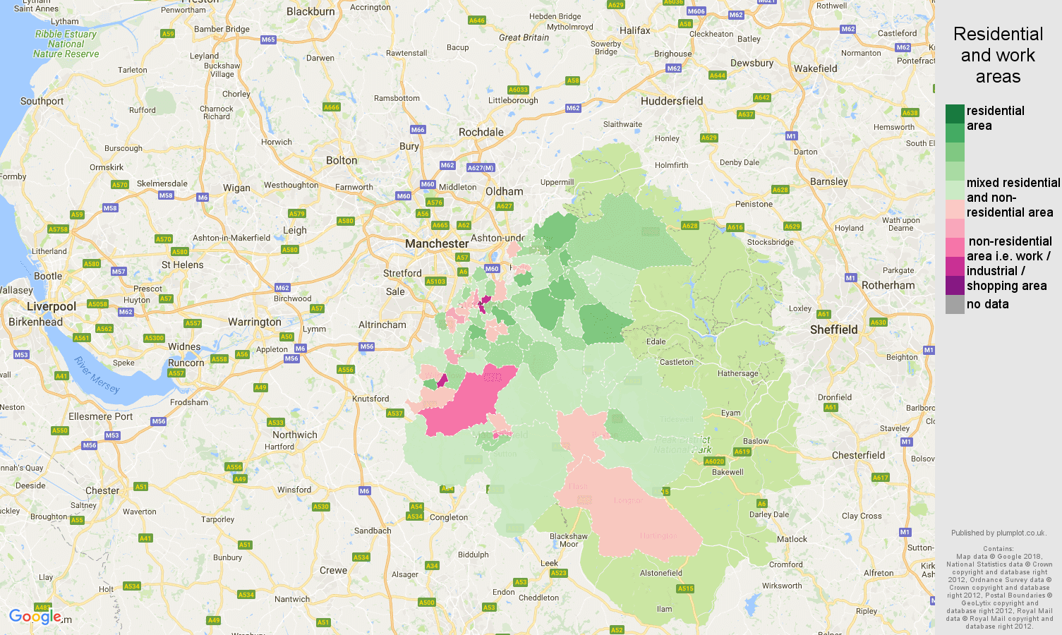 Stockport population stats in maps and graphs
