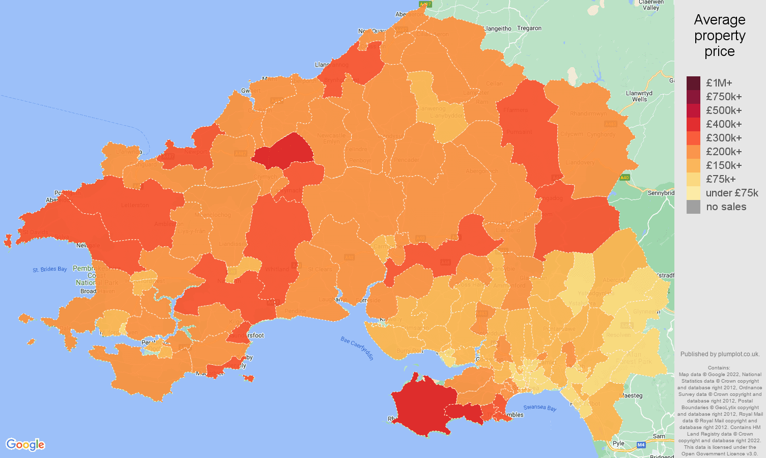 Swansea house prices map
