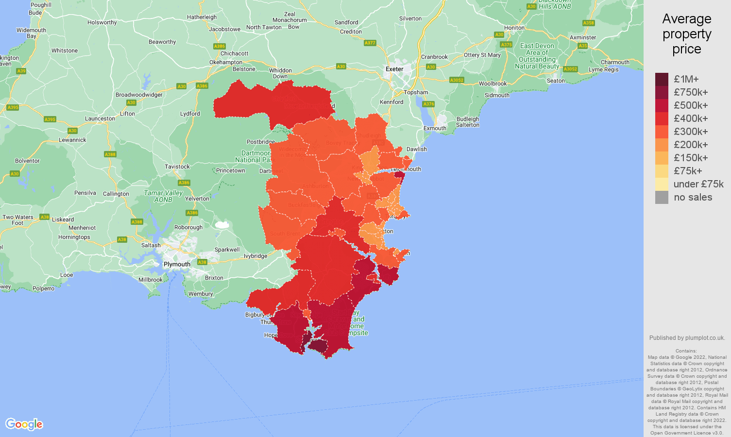 Torquay house prices in maps and graphs
