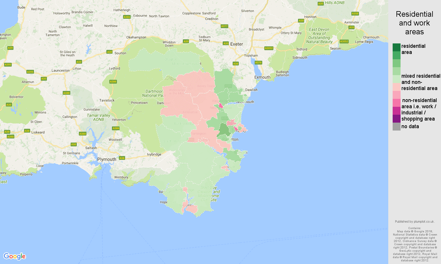 Torquay population stats in maps and graphs