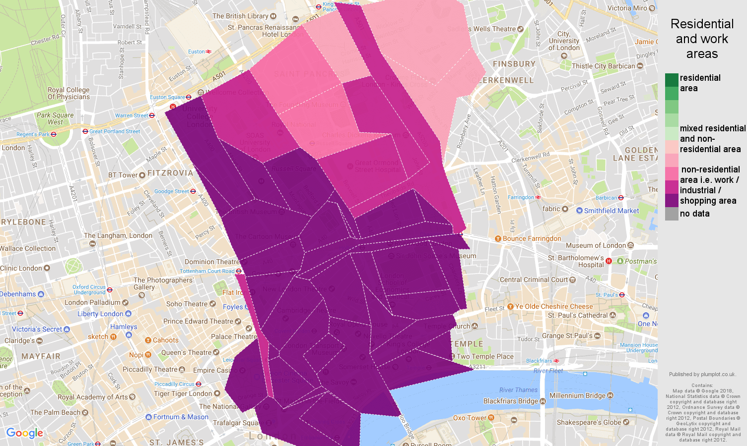 Western Central London residential areas map