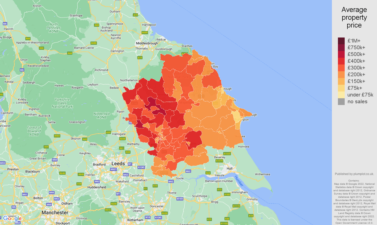 York house prices map