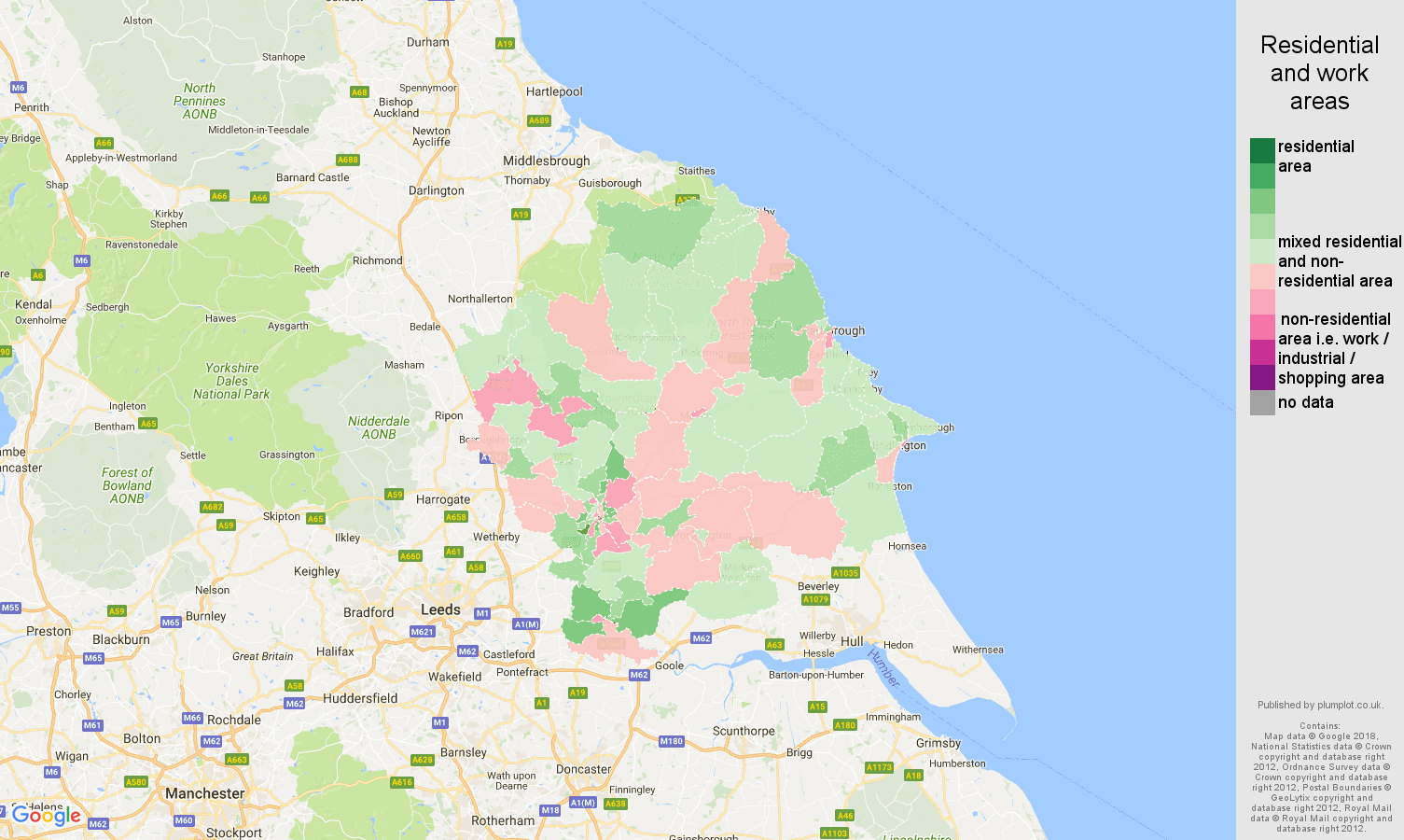 York residential areas map