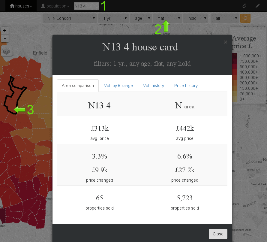 North London house price map