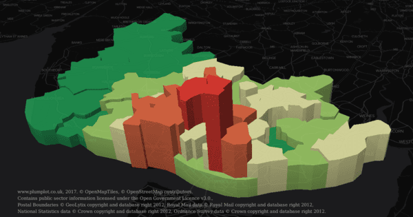 Liverpool crime rates and house prices in 3D map