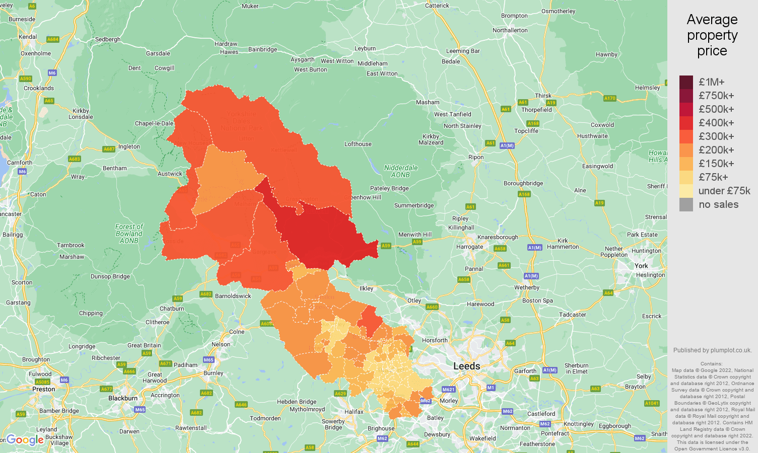 Bradford house prices map